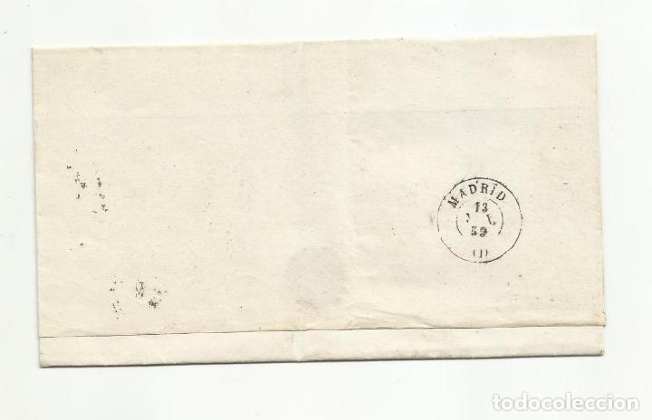 Sellos: ENVUELTA circulada 1859 DE LA CAROLINA JAEN A MADRID - Foto 2 - 260672720