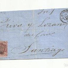 Sellos: CIRCULADA Y ESCRITA 1862 DE MADRID A SANTIAGO CORUÑA. Lote 260673345