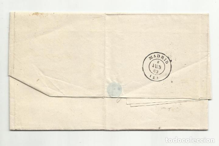 Sellos: circulada Y ESCRITA 1863 DE BARCELONA A MADRID - Foto 3 - 260675295