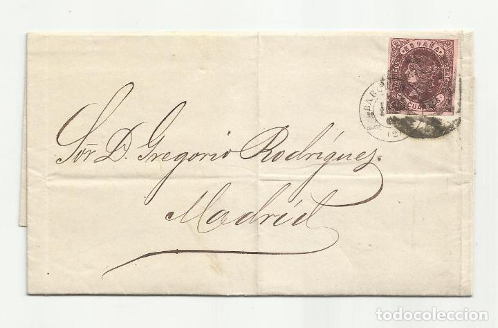 CIRCULADA Y ESCRITA 1863 DE BARCELONA A MADRID (Sellos - España - Isabel II de 1.850 a 1.869 - Cartas)