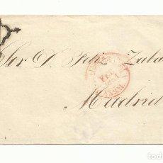 Sellos: ENVUELTA CIRCULADA 1851 DE ANTEQUERA MALAGA A MADRID. Lote 260692850