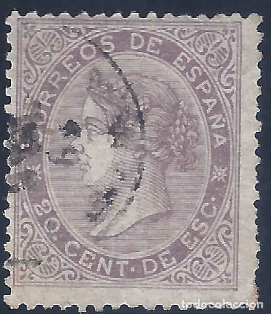 EDIFIL 92 ISABEL II. AÑO 1867. VALOR CATÁLOGO: 14,50 €. (Sellos - España - Isabel II de 1.850 a 1.869 - Usados)