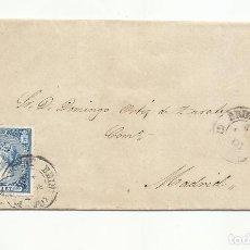 Sellos: ENVUELTA CIRCULADA 1866 DE BRIHUEGA GUADALAJARA A MADRID. Lote 260712265