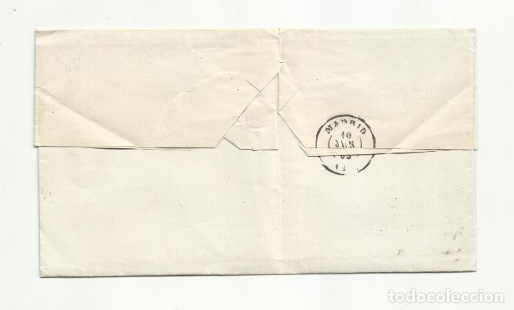 Sellos: ENVUELTA circulada 1862 DE SANTANDER A MADRID CON RUEDA CARRETA - Foto 2 - 260713045