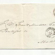 Sellos: ENVUELTA CIRCULADA 1862 DE SANTANDER A MADRID CON RUEDA CARRETA. Lote 260713045