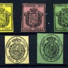 Sellos: ESPAÑA Nº 28/30, 35/8. AÑO 1851/54. Lote 260847085