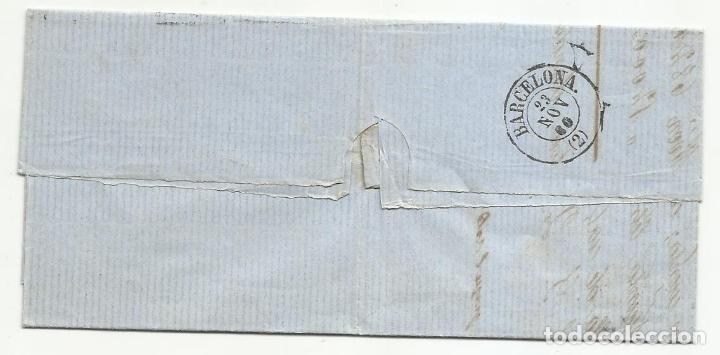 Sellos: circulada Y ESCRITA 1860 DE ZARAGOZA A BARCELONA CON RUEDA DE CARRETA - Foto 3 - 260673895