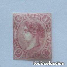 Sellos: ESPAÑA - 1865 - ISABEL II - EDIFIL 69 - MH* - NUEVO - VALOR CATALOGO 430€.. Lote 261293770