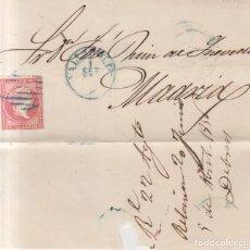 Sellos: AÑO 1856 EDIFIL 48 ENVUELTA MATASELLOS AZUL REJILLA Y AZUL VALLADOLID. Lote 261823020