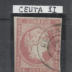 Selos: ISABEL II FECHADOR CEUTA. Lote 261892085