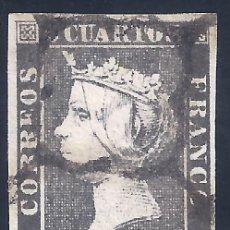 Sellos: EDIFIL 1A. ISABEL II. AÑO 1850. EXCELENTE MATASELLOS DE ARAÑA NEGRA. PAPEL GRUESO. LUJO.. Lote 261893750