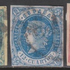 Sellos: 1860-62. TRES PIEZAS ISABELINAS. Lote 261965640