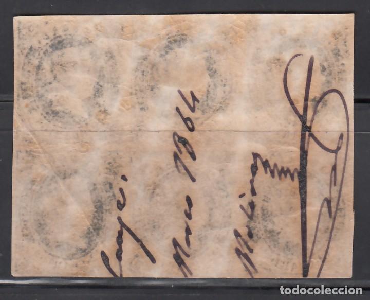 Sellos: ESPAÑA, 1862 EDIFIL Nº 59 **/*, 12 cu. azul s. rosa, Bloque de seis, - Foto 2 - 262032790