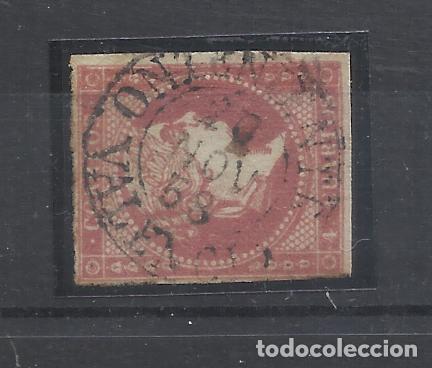 ISABEL II 1855 EDIFIL 48 FECHADOR ONTENIENTE VALENCIA (Sellos - España - Isabel II de 1.850 a 1.869 - Usados)