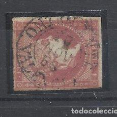 Sellos: ISABEL II 1855 EDIFIL 48 FECHADOR ONTENIENTE VALENCIA. Lote 262180650