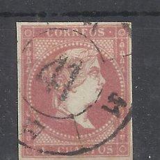 Selos: ISABEL II 1855 EDIFIL 48 RUEDA DE CARRETA 41 SAN SEBASTIAN. Lote 262341005