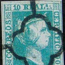 Sellos: EDIFIL 5 SELLOS ESPAÁ 1850 ISABEL II REPRODUCCIONES DE LUJO FALSO FILATELICO. Lote 262443220