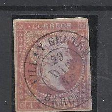 Sellos: ISABEL II EDIFIL 48 FECHADOR VILANOVA I LA GELTRU BARCELONA. Lote 262855065