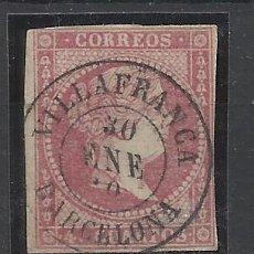 Selos: ISABEL II EDIFIL 48 FECHADOR VILAFRANCA DEL PENEDES BARCELONA. Lote 262855875