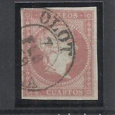 Francobolli: ISABEL II EDIFIL 48 FECHADOR OLOT GIRONA. Lote 262862520