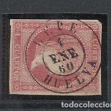 Sellos: ISABEL II EDIFIL 48 FECHADOR LEPE HUELVA. Lote 262864620