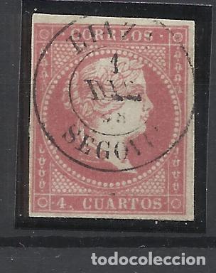 ISABEL II EDIFIL 48 FECHADOR RIAZA SEGOVIA (Sellos - España - Isabel II de 1.850 a 1.869 - Usados)