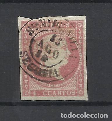 ISABEL II EDIFIL 48 FECHADOR SANTA MARIA DE NIEVA SEGOVIA (Sellos - España - Isabel II de 1.850 a 1.869 - Usados)