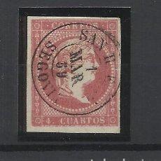 Sellos: ISABEL II EDIFIL 48 FECHADOR SAN RAFAEL SEGOVIA. Lote 262880430