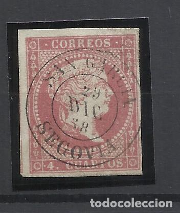 ISABEL II EDIFIL 48 FECHADOR SAN GARCIA SEGOVIA (Sellos - España - Isabel II de 1.850 a 1.869 - Usados)