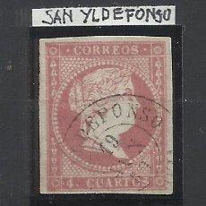 Sellos: ISABEL II EDIFIL 48 FECHADOR SAN ILDEFONSO SEGOVIA. Lote 262880890