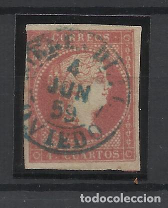 ISABEL II EDIFIL 48 FECHADOR MIERES OVIEDO (Sellos - España - Isabel II de 1.850 a 1.869 - Usados)