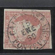 Sellos: ISABEL II EDIFIL 48 FECHADOR CALDAS DE REIS PONTEVEDRA. Lote 262885475