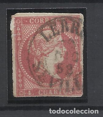 ISABEL II EDIFIL 48 FECHADOR LEBRIJA SEVILLA (Sellos - España - Isabel II de 1.850 a 1.869 - Usados)