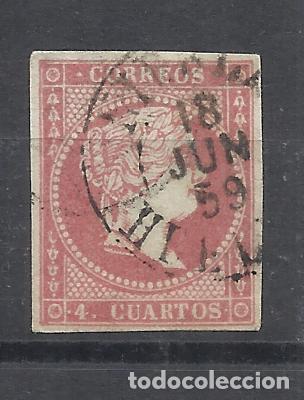 ISABEL II EDIFIL 48 FECHADOR NIEBLA HUELVA (Sellos - España - Isabel II de 1.850 a 1.869 - Usados)