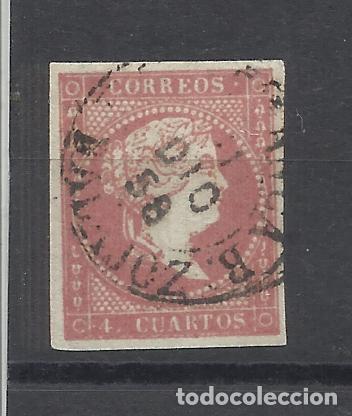 ISABEL II EDIFIL 48 FECHADOR VILLAFRANCA DE LOS BARROS (Sellos - España - Isabel II de 1.850 a 1.869 - Usados)