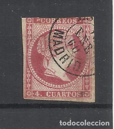 ISABEL II EDIFIL 48 TIPO III FECHADOR MADRID (Sellos - España - Isabel II de 1.850 a 1.869 - Usados)