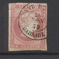 Sellos: ISABEL II EDIFIL 48 FUENTE DE BARROS BADAJOZ. Lote 262890965