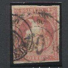 Sellos: ISABEL II EDIFIL 48 FECHADOR Y RUEDA DE CARRETA 60 VIGO. Lote 276711368