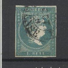 Sellos: ISABEL II 1855 EDIFIL 49 FECHADOR ORENSE VALOR 2018 CATALOGO 34.- EUROS. Lote 262907085