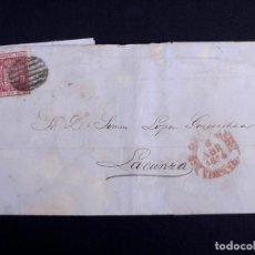 Sellos: SIMON LOPEZ GOICOECHEA. CARTAS REFERENTES AL PRECIO DEL AZUCAR Y CACAOS. SAN SEBASTIAN 1854. Lote 263650925