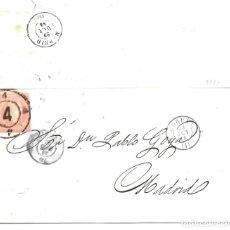 Sellos: 1858 (29 ENE) CARTA ENVUELTA CORUÑA A MADRID. RUEDA CARRETA 4. EMISIÓN SELLO ISABEL II 1858. Lote 264065390