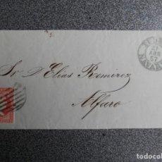 Sellos: CARTA AÑO 1857 FECHADORES TUDELA Y ALFARO PARRILLA SOBRE EDIFIL 48 EMPRESA JAVIER SANTOS. Lote 264778474