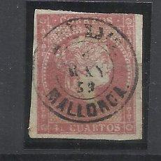 Francobolli: ISABEL II EDIFIL 48 FECHADOR ANDRAIX MALLORCA BALEARES. Lote 265125604
