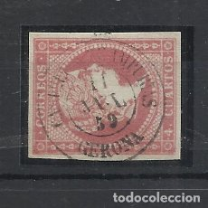 Francobolli: ISABEL II EDIFIL 48 FECHADOR CASTELLO D´AMPURIES GIRONA GERONA. Lote 265172179