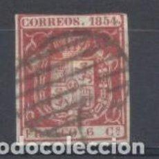 Sellos: ESPAÑA, 1854, EDIFIL 33, ESCUDO DE ESPAÑA, USADO. Lote 266163223