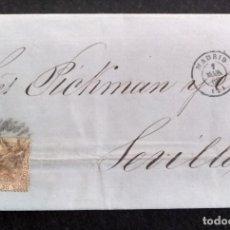 Francobolli: CARTA CIRCULADA MADRID-SEVILLA, AÑO 1868. Lote 267439519