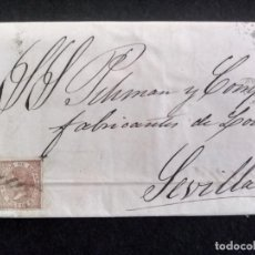 Francobolli: CARTA CIRCULADA PAMPLONA A SEVILLA, AÑO 1868. Lote 267458239