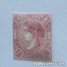 Sellos: ESPAÑA - 1865 - ISABEL II - EDIFIL 69 - MH* - NUEVO - VALOR CATALOGO 430€.. Lote 267514219