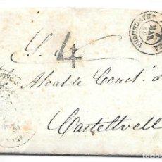 Sellos: ENVUELTA CON TEXTO DE MANRESA A CASTELLTVELL 4 DE PORTEO 1860. Lote 267720899