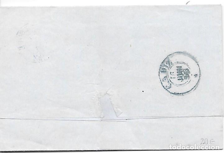 Sellos: EDIFIL 48. ENVUELTA CIRCULADA DE SAN ROQUE A CADIZ POR ESTAFETA 1856 - Foto 2 - 267721599